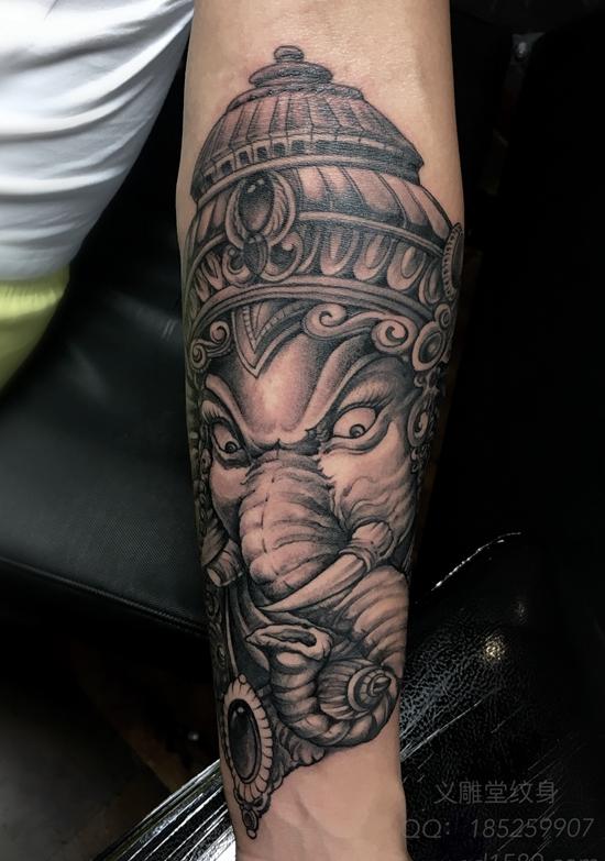 象神纹身图片